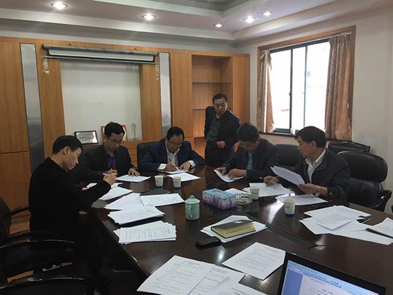 集团公司董事长王栋,副董事长王冲到杭州水利水电勘测设计院检查指导图片